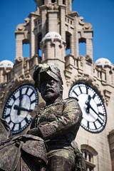 Edward VII, Liverpool (nickcoates74) Tags: 55210mm a6300 ilce6300 liverpool sel55210 sony uk edwardvii pierhead liverbuilding king statue affinityphoto