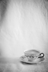 Minimalism (nuriapase) Tags: minimalism blackandwhite monocrhome stilllife cup vintage nikon art creative composition black white grey old past coffee drawing border studio