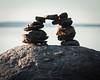 Viewfinder (Mikko Manner) Tags: nikond7200 helsinki finland uutela rocks sea water treeline trees sunrise nikon80200mmf28af vintageglass legacyglass