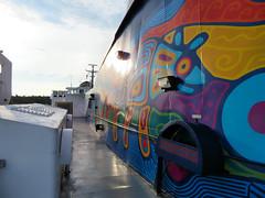 Ferry, Georgian Bay, Ontario, Canada (duaneschermerhorn) Tags: ship boat ferry water lake blue colourful colorful