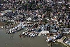 Woodbridge in Suffolk - aerial image (John D Fielding) Tags: woodbridge suffolk river deben