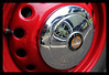 Wheel nuts Show 31 (dogndub) Tags: classic car hubcap bristol reflection red