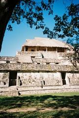 Ek Balam (cranjam) Tags: ricoh gr1 gr1v film kodak portra160 mexico messico yucatán ekbalam ruins rovine temple tempio archaeologicalsite sitoarcheologico temozón