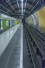 Platform view : Charing Cross lost tunnels (Bob the Binman) Tags: nikon d7100 hiddenlondon londontransport londonunderground lul tfl londontransportmuseum underground tube trains tunnels ghoststation secret london charingcross jubileeline fleetline londonist
