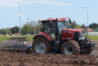 Case IH Puma 175 CVX Tractor with a Lemken 5 Furrow Plough