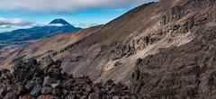 In the Land of Mordor (Claude Downunder) Tags: mountruapehu mountngauruhoe mountdoom emynmuil lordoftherings tolkien jrrtolkien nz newzealand northisland volcano clouds sky rocks mountain moutains mordor middleearth