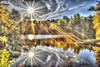 Sunshine (Pearce Levrais Photography) Tags: sun forest hdr canon 7d markii cloud water pond lake