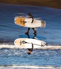 the world upside down (*BegoñaCL) Tags: surf hombre reflejo playa azul mar mediterráneo robado begoñacl agua