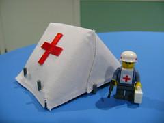 Custom Lego WW2 German hospital tent prototype (TekBrick) Tags: custom lego ww2 german hospital tent moc prototype war red cross