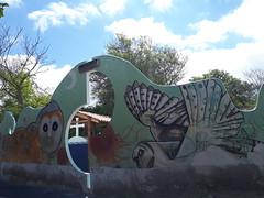 Puerto Ayora (Daniel Putík) Tags: street art sova owl cemetery wall graffiti mural puerto ayora santa cruz galapágy galapagos galápagos lechuza
