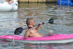 Bayou Boogaloo 2018 079 (Omunene) Tags: bayouboogaloo2018 festival musicfestival neworleans faubourgstjohn bayoustjohn homemadewatercraft kayak longboard canoe shirtless hunk