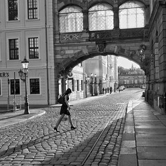 Dresden, Germany (puliMexNed) Tags: blackwhite dresden germany woman blancoynegro streetphoto