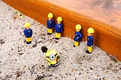 waiting for next emergency (Sharp - Shooter) Tags: macro minions feuerwehrmann sam fireman sand