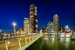 Kop Van Zuid @ Rotterdam 2018 (zilverbat.) Tags: maas maasstad nightshot rotterdam zilverbat longexposurenetherlands longexposurebynight longexposurewater night nightphotography nightlights nieuwbouw architecture nightimage wallpaper bild kopvanzuid buildings image waterfront waterweg waterstad bluehour bridge brug brucke timelife thenetherlands town rijnhavenbrug skyscraper ny newyork