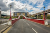 3 bridges (stevefge) Tags: 2018 newcastle northeast tyne uk perspective reflectyourworld swingbridge bridges road urban street lamps lamppost red arch