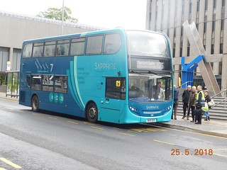 Arriva North East Sapphire Liveried E400 7540 seen here at Darlington Town Hall, whilst on service MAX X75/X76