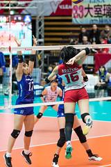 荒谷栞vs小笹奈津子・松本亜弥華@V-プレミアリーグ2017-18 大田大会
