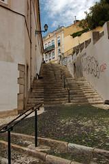 Escadinhas de São Crispim (H&T PhotoWalks) Tags: steps escadinhas street streetscape lisboa lisbon portugal canoneos400d sigma18250 tan ix