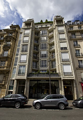25 Rue Benjamin Franklin, Paris (IFM Photographic) Tags: img2281a canon 600d tamron 1024mm 1024mmf3545diiivchld tamron1024mmf3545diiivchld f3545 di ii vc hld 25ruebenjaminfranklin paris france 16tharrondisment xvi 16th arondisment 16e 16ème 75016 augusteperret brutalist