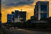 Tangerine Sky (Mansoor Bashir) Tags: islamabad islamabadcapitalterritory pk pakistan dusk golden orange hour sunset sundown cloudscape clouds overcast skyscraper skyline cityscape urbex urban city cars road infrastructure