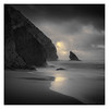 Shark Fin (Vesa Pihanurmi) Tags: seascape beach rock cliff portugal sintra praiadaadraga shoreline ocean clouds