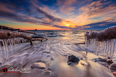 Icy Cudahy Rush (andrewslaterphoto) Tags: andrewslaterphotography boulder cold cudahy greatlakes ice lakemichigan milwaukee nature outdoors rock sheridan trees water canon 5dmarkiii beach sand landscape wisconsin unitedstates us sunrise branch