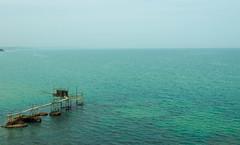 Trabocco di Punta Aderci (Audrey1dp) Tags: trabocco vasto punta aderci riserva naturale mare orizzonte panorama canon eos1300d 1300d