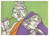 Beloved (2017) (notjustartglobal) Tags: krishna radha hindu hinduism mythology gods autism disability disabilityart abstract nja notjustart amritkhurana linedrawing painting illustration