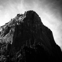In Canyons 231 (noahbw) Tags: d5000 hln nikon utah zionnationalpark abstract autumn blackwhite blackandwhite blur bw canyon cliffs desert digitalholga erosion holga holgalens landscape lofi monochrome mountain natural noahbw rock shadow silhouette square stone toylens