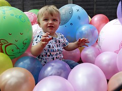 Jacobs 1st Birthday. (dylskyok) Tags: balloons child kid one year old colour color 1st birthday first number