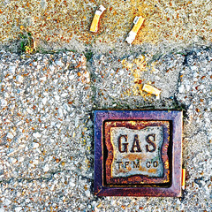 """Amarillo"" (Halvorsong) Tags: art photography composition texture textured textures street roadside sign america explore discover wow cigarettes cigarette simple simplicity color square metal old school weathered rust"