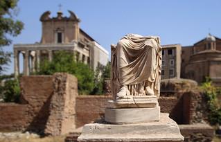 Half remaining statue of a Vestal Virgin
