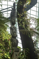 Gardens by the Bay, Singapore (Chicago_Tim) Tags: singapore asia asian southeast gardensbythebay gardens by bay botanic conservatory dome greenhouse cloudforest cloud forest wood figure sculpture totem