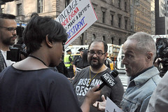 news (greenelent) Tags: notrump protest demonstration riseandresist streets people activists nyc newyork