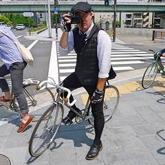 Coolest paparazzi in Osaka. @fixed_in_nara effortlessly bringing the style to last weekends @giragirachariya ride. #cycling #fixedgear #vintagestyle #nagasawa #giragirachariya #streetphotography #photographer #mensfashion #style #photography #Osaka #Japan (kinkicycle.com) Tags: ifttt instagram