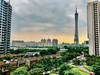 Canton Tower in Guangzhou (iPhone 7) (jasonroweart) Tags: canton guangzhou china tower building asia iphone phone photography architecture city clouds international jason jasonroweart rowe outdoors outside skyline sky trekker world