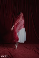 Vita Vera (the side projects by dews) Tags: ballerina red fabric dancer emotive