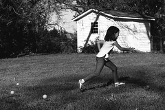 You can't catch me! (Liza Williams) Tags: action run family georgia milner blackandwhite niece child girl egghunt lizawilliamsphotos easter milnerga