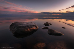 Jason Tiilikainen - Mellow Evening (Jason Tiilikainen) Tags: ngc red lake nikon d7100 rocks water clouds evening sunset calm joensuu suomi finland