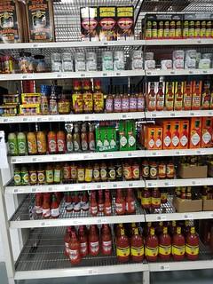 Hot sauce selection - USA Foods, Moorabbin