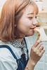 _MEO9352 (Davic (N)) Tags: girl dress blue fresh short hair beautiful bread tea sad alone