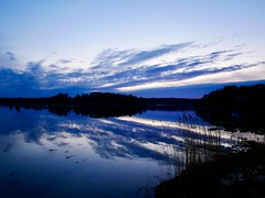 Evening Blues (docwiththecamera) Tags: sky blue cloud water sea archipelago evening sunset