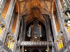 The Corona Organ, Liverpool Anglican Cathedral (robin denton) Tags: liverpool cathedral liverpoolcathedral organ church interior building listed grade1listedbuilding ceiling