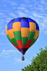 G-CIWX Sackville 65 (aledy66) Tags: gciwx sackville 65 thecoffeecupcolmworthgolfclub bedford ef70300mm hot air balloon gas bag canon eos 6d 6d2 markii mk2 mkii clouds sky blue colourfull