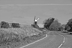 Up Hill to Mill Monochrome (brianarchie65) Tags: bikes tourofyorkshire skidby skidbymill trees tractor fence windmill blackandwhite blackandwhitephotos blackandwhitephoto blackandwhitephotography unlimitedphotos ngc flickrunofficial flickruk flickr flickrcentral ukflickr canoneos600d geotagged brianarchie65 lapollution rubbish trash