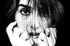 Doubt (everybodyisone) Tags: woman women waves hair highcontrast human hand girl grain eyes eyeaf emotion 55f18 55mm 5518 sony sonyilce7rm2 sonysonnartfe55mmf18za fullframe face fe55 fe55mmf18za lips