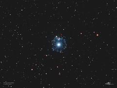 NGC6543_Bi-Colour_Crop_7-5-2018 (MarkLB57) Tags: catseye ngc6543 nebula astronomy astrophotography azeq6gt zwoasi1600mmcool zwoefwelectricfliterwheel bicolour ha oiii meade6000115mmrefractor marklb57 narrowband draco planetarynebula