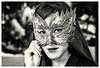 ,, (Matías Brëa) Tags: mujer woman modelo model mascara mask monocromo monochrome retrato portrait