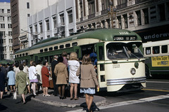 US CA San Francisco MUNI PCC 1016 8-1970 (David Pirmann) Tags: california sanfrancisco muni tram trolley streetcar transit railroad transportation pcc