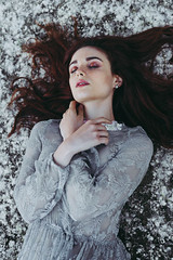 Cora (Arianna Ceccarelli Photography) Tags: girl woman portrait portraits hair redhair redhead pollen cold face eyes hands body people photography photographer model makeup makeupartist fineart conceptual
